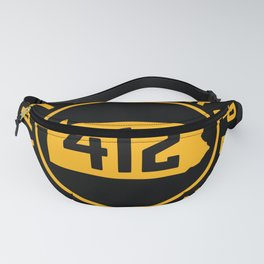 Pittsburgh Pennsylvania 412 State Map Home Vintage Sign Fanny Pack