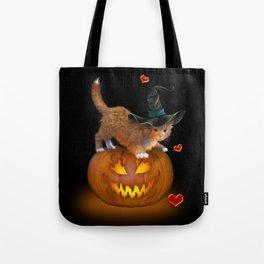 Kitty Halloween Tote Bag