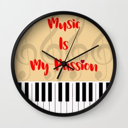 Music Is My Passion : #A Wall Clock