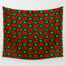 Christmas checkerd design with a twist Wall Tapestry