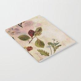 Botanical Study #1, Vintage Botanical Illustration Collage Notebook