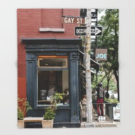 Picturesque restaurant in Greenwich Village, New York Throw Blanket