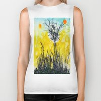 tim shumate Biker Tanks featuring Tim Burton by Jose Luis