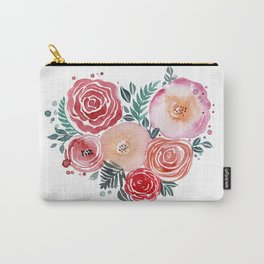 heart love flowers Carry-All Pouch