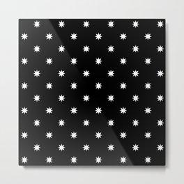 stars 56- black and white Metal Print