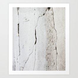 Cracks in Concrete rustic decor Art Print