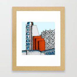 Cyclone Coaster (Lakeside Amusement Park) Framed Art Print