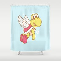 nintendo Shower Curtains featuring Koopa Troopa /Nintendo  by HypersVE