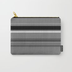 Gray Stripes Abstract Carry-All Pouch