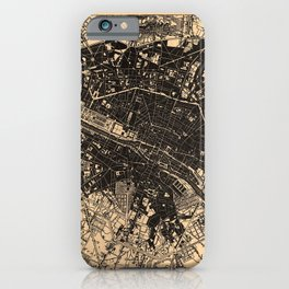 Iconographic Encyclopedia of Science, Literature and Art (1851) - Map of Paris iPhone Case
