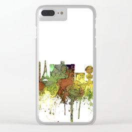 Las Vegas Skyline - Safari Buff Clear iPhone Case