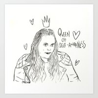 my mad fat diary Art Prints featuring Rae Earl - Mad fat diary by Creen