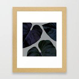 THREE TROPICAL LEAVES Framed Art Print