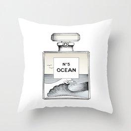 Ocean No5 Throw Pillow