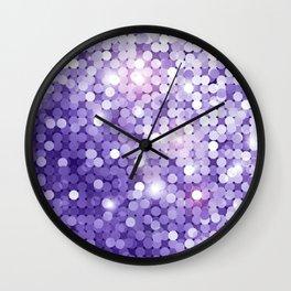 Ultra Violet Purple Glitter Wall Clock