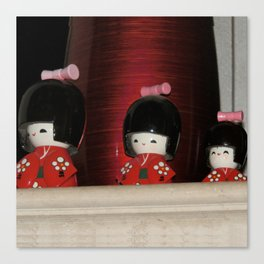 Japanese Cute Dolls Canvas Print