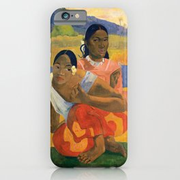 Affordable Art $300,000,000 When Will You Marry by Paul Gauguin iPhone Case
