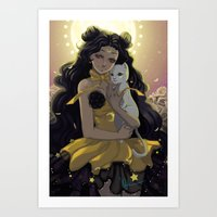 sailormoon Art Prints featuring Luna by Mika