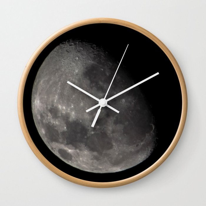 Quarter Moon Wall Clock