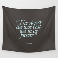 harry potter Wall Tapestries featuring Harry Potter Quote #2 by Marcela Caraballo