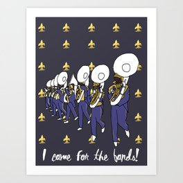 Mardi Gras - I Came for the Bands! Art Print