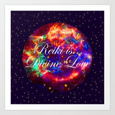 Reiki is Divine Love | The Energy it Flows | Going with the Flow Art Print