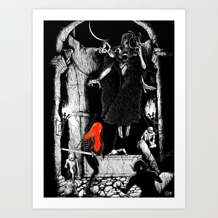 Dark Desecration Art Print