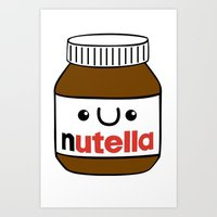 Nutella Monster Art Print