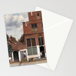 Johannes Vermeer - The Little Street Stationery Cards