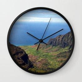 Kauai Mountains Wall Clock