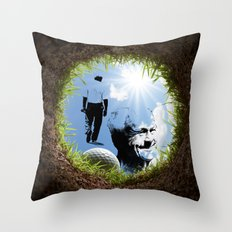 Hole in one Arnold! Throw Pillow