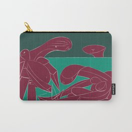 Picasso - On the beach (Bordeaux Green) Carry-All Pouch