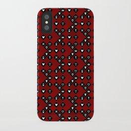 Kingdom Hearts III - Pattern - Red iPhone Case