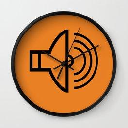 Sound orange Wall Clock