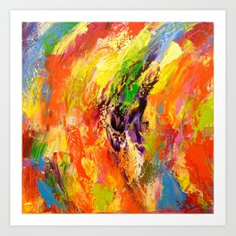 Red yellow blue Art Print