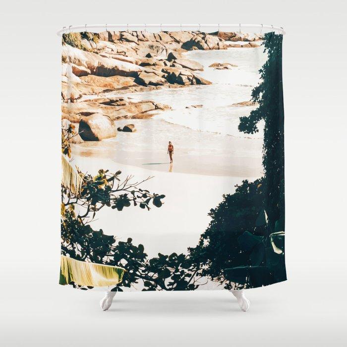 Solo Traveler || #illustration #travel Shower Curtain