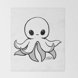 Monochroctopus Throw Blanket