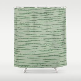 Map Collection: Countryside Shower Curtain