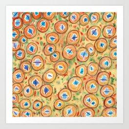Marvelous Galaxies Pattern Art Print