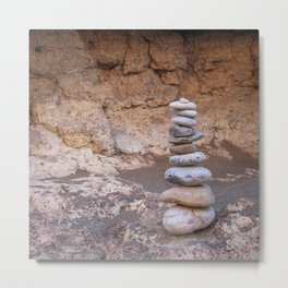 Rock Piles Metal Print