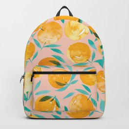 Winter Oranges | Peach Background Backpack