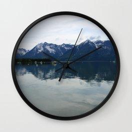 Peaceful Evening At The Lake Wall Clock
