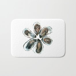 Oysters on the Half Shell Bath Mat