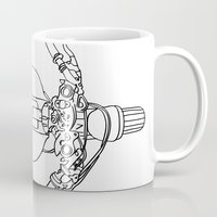 motorbike Mugs featuring Motorbike by Jessica Slater Design & Illustration