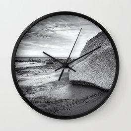 Kenai Beach bw Wall Clock
