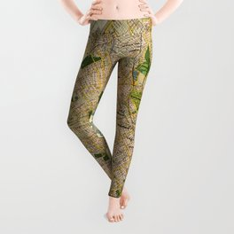 Vintage Map of Buenos Aires Argentina (1921) Leggings