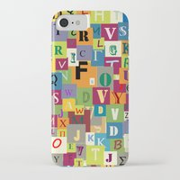 alphabet iPhone & iPod Cases featuring Alphabet by Rceeh