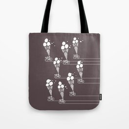 Unstoppable Ruthless Ice Cream Biker Gang Onslaught Tote Bag