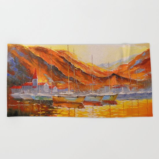 Marina Bay Beach Towel