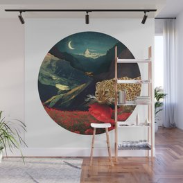 Night Poppy Hunting :: Fine Art Collage Wall Mural